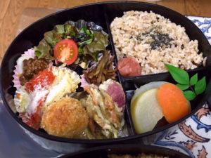 写真は茶蔵の『玄米と糀を使ったお弁当』(大)